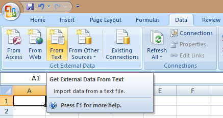 Data Excel From Text