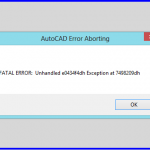 Cara Memperbaiki AutoCAD Error Aborting Fatal Error Unhandled e0434f4dh Exception
