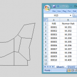Cara Export Excel Ke AutoCAD Map