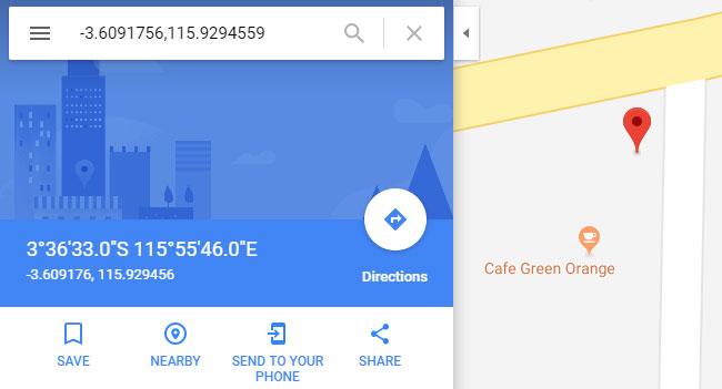 Hasil Pencarian Koordinat Dengan Google Map