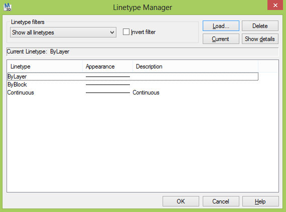 Linetype Manager AutoCAD