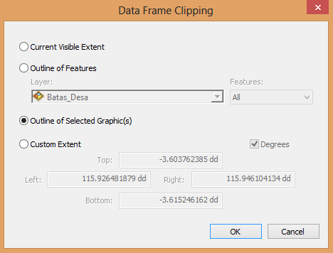 data frame clipping arcgis
