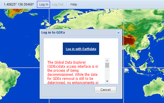 cara login earthdata usgs