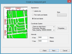 create measure grid arcgis