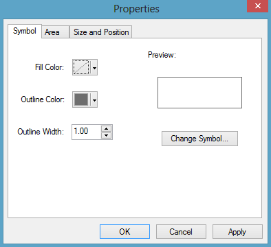 kotak dialog properties rectangle arcgis