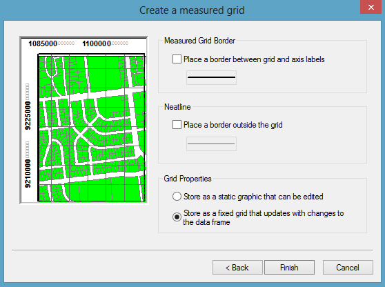 pengaturan create measure grid arcgis