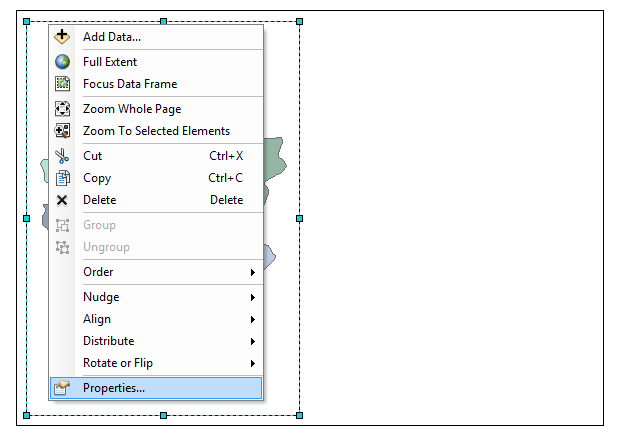 pengaturan layout data frame arcgis