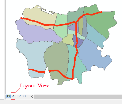 tab layou view arcgis
