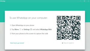 aplikasi whatsapp web di laptop pc