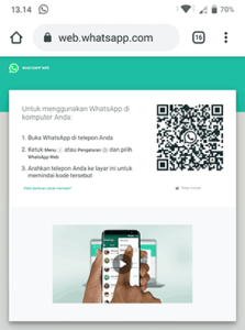 buka whatsapp web di hp