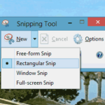 screen shot dengan snipping tool