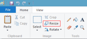 tool resize program paint