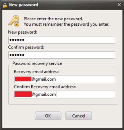 buat password di secret folder