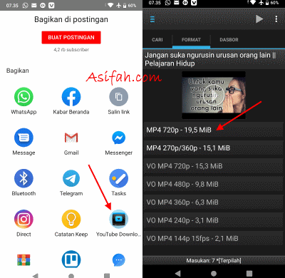 download video youtube dengan dentex