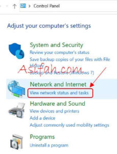 view network dan status windows 10