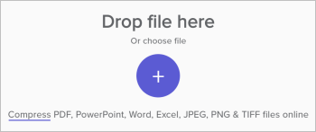 drop file here wecompress