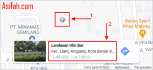 menandai lokasi di google map pc
